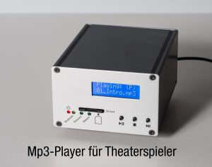 Mp3-Player für Theaterspieler Theatertechnik